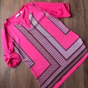 New York & Company pink print tunic